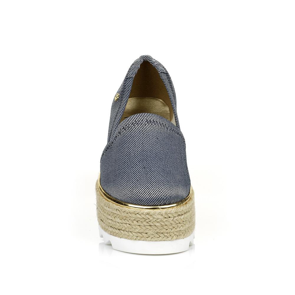 Tênis Slip On Flatform Jeans Petite Jolie PJ2119