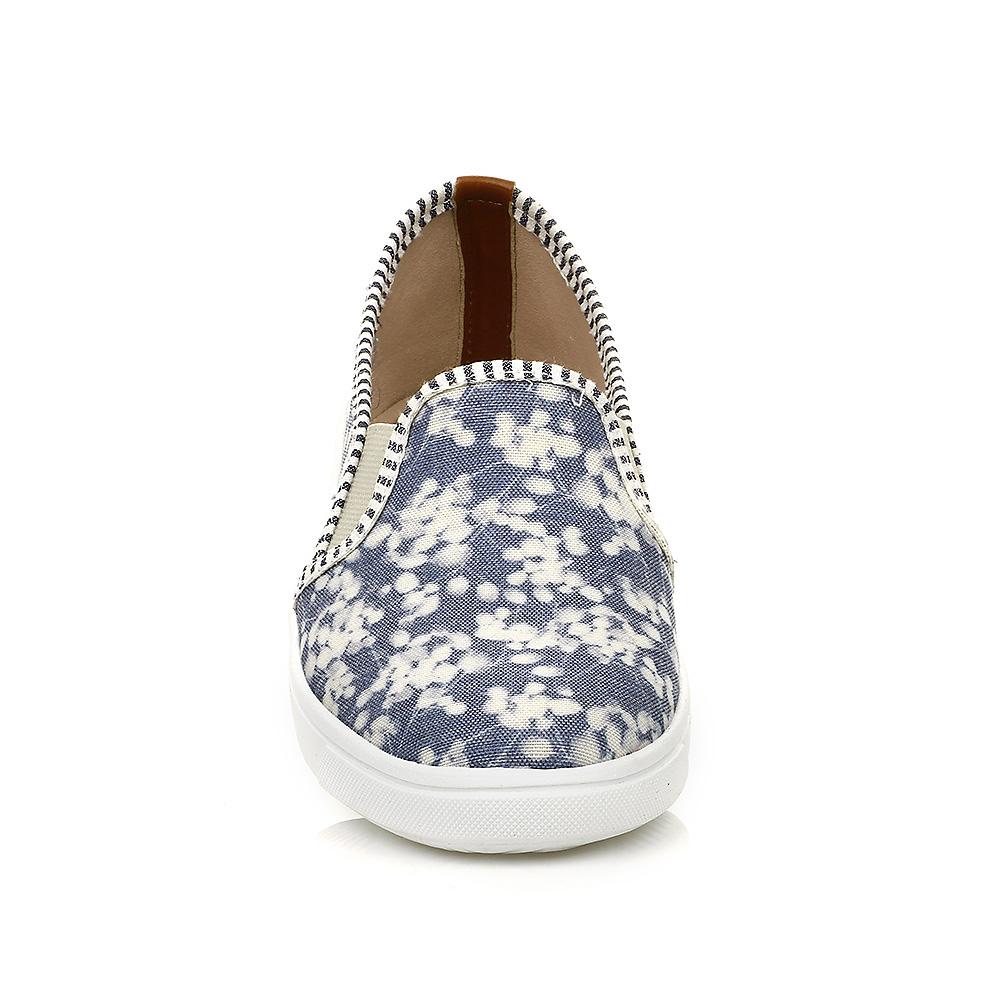 Tênis Slip On Floral Detalhe Caramelo DNA Shoes 38109