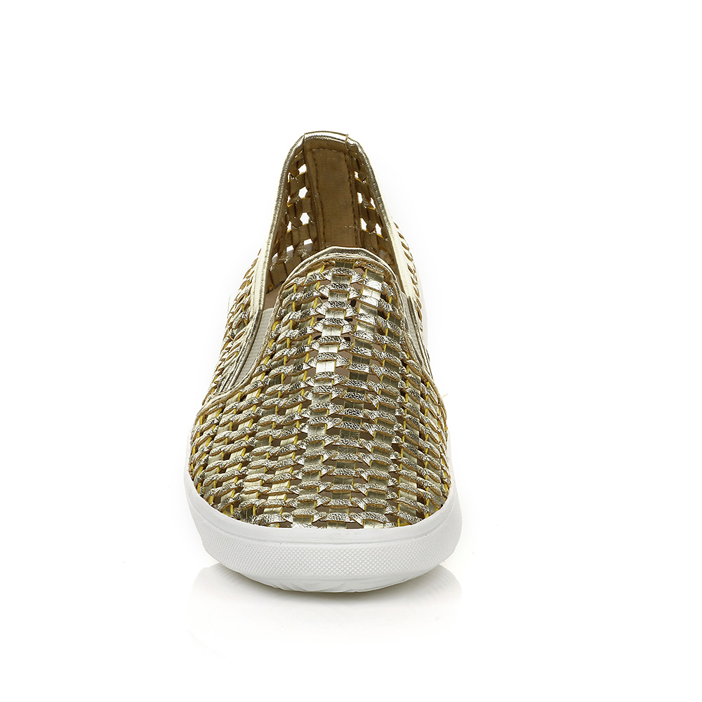 Tenis Slip On Trama Ouro DNA Shoes 38109