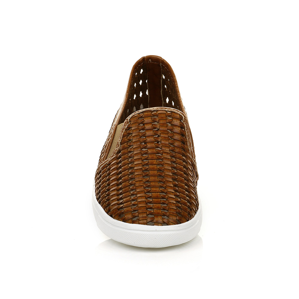 Tenis Slip On Trama Caramelo DNA Shoes 38109