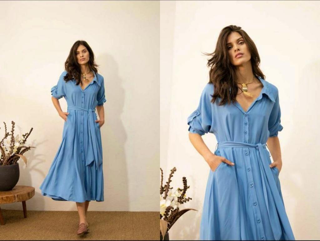 Vestido Midi Bermejo Céu 21396.038 Santissima - Záten