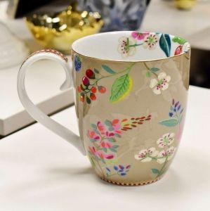 Caneca Extra Grande Caqui Floral 2.0 Pip Studio - 55976