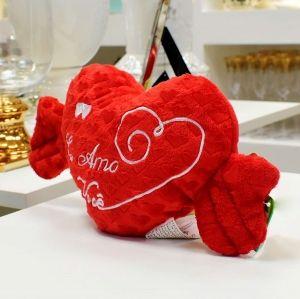 Almofada De Coração Vermelha Ventosa - 56636