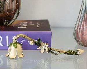 Apagador De Vela Flor Bege - 53855