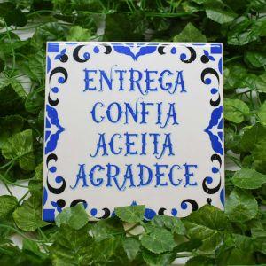 Azulejo Decorativo Aceita Agradece - 58676