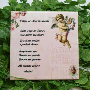 Azulejo Decorativo Anjo Da Guarda Rosa - 58653