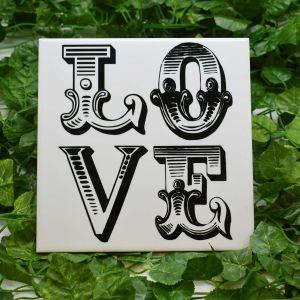 Azulejo Decorativo Love - 58674