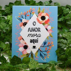 Azulejo Decorativo O Amor Mora Aqui - 58678