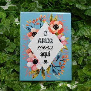 Azulejo Decorativo O Amor Mora Aqui - 58694