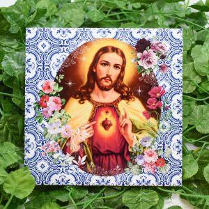 Azulejo Decorativo Sagrado Coração de Jesus - 58654