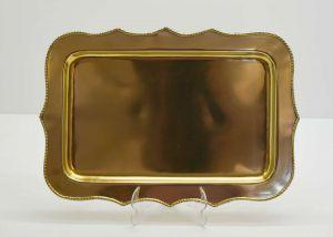 Bandeja De Inox Com Banho De Bronze - 54995