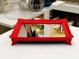 Bandeja Espelhada Vermelha - 56619