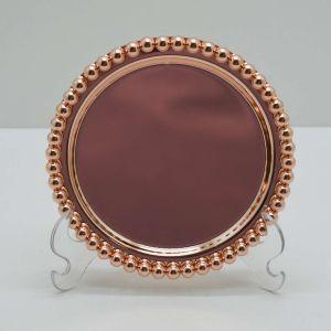 Bandeja Rose Gold De Zamac Balls - 58424