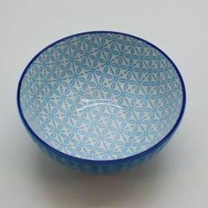 Bowl De Porcelana Decorativo Azul - 58006