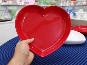 Bowl Travessa Coração Em Cerâmica 25,5cm - 10882