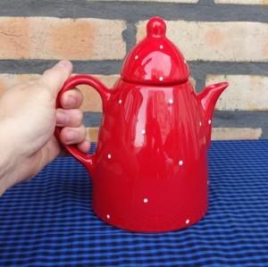 Bule Café Chá 1 litro Cerâmica Esmaltada Div. Cores 10153