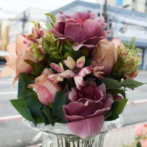 Buque De Rosas Roxas X15 - 58159