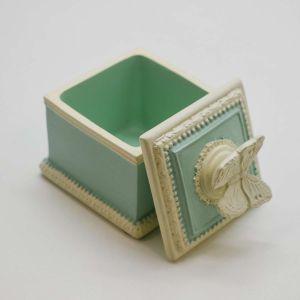 Caixa Em Resina Verde Com Borboleta - 53831
