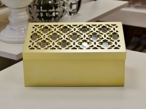 Caixa Trellis Ouro - 55950