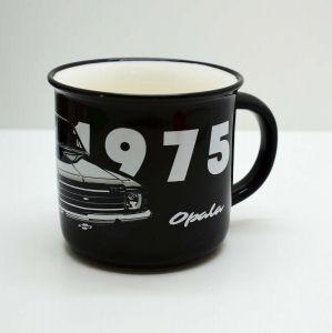 Caneca De Porcelana Retro 1975 Gm Opala Preto - 57715