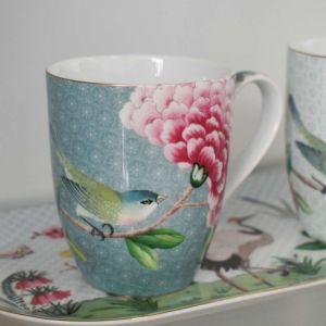 Caneca Grande Azul Blushing Birds Pip Studio - 58315
