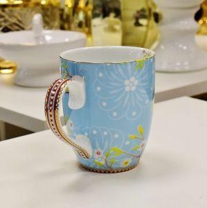 Caneca Grande Passarinho Azul Floral Pip Studio - 52748
