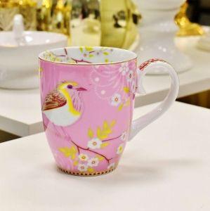 Caneca Grande Passarinho Rosa Floral Pip Studio - 52750