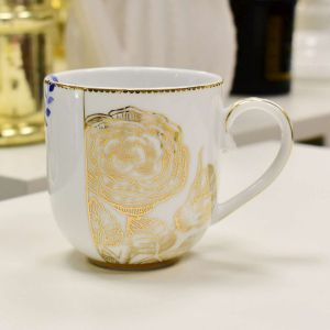 Caneca Pequena Golden Flower Royal White Pip Studio - 56539