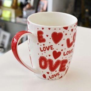 Caneca Porcelana Love Vermelho - 56576