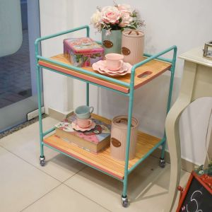 Carrinho Organizador Pipe Verde/Rosa - 57345