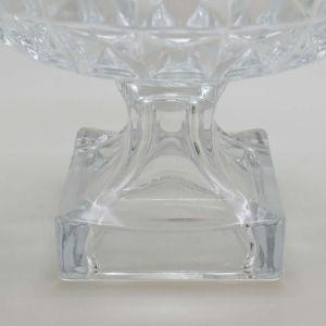Centro De Mesa Decorativo De Cristal De Chumbo Com Pé Diamant Transparente - 58507