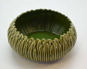 Centro De Mesa Em Cerâmica Verde Hortênsia - 58336