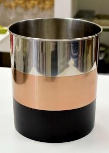 Cesto Vaso Em Inox Com 03 Cores - 54998