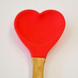 Colher Coração De Silicone Rice Vermelho - 55126