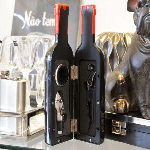 Conjunto 03 Peças Para Vinho De Aço Inox E Plástico - 58079