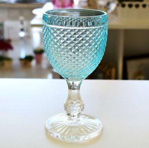 Conjunto 06 Taças Em Vidro Para Água 250ml Imperial Azul Transparente - 57236