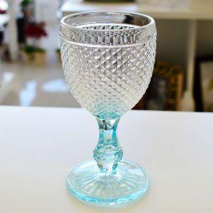 Conjunto 06 Taças Em Vidro Para Água 250ml Imperial Transparente Azul - 57235