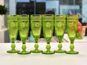 Conjunto 06 Taças Para Champagne Aubusson Verde - 10787a