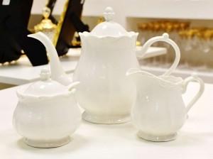 Conjunto 3 Peças Para Chá De Porcelana Fancy Branco - 55658