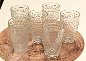 Conjunto 6 Copos Altos De Vidro Sodo-Cálcico Bubble Transparente 320ML - 56184
