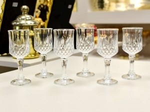 Conjunto 6 Taças Para Licor De Vidro Sodo-Cálcico Diamante Transparente 60ML - 56277