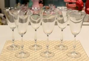 *Conjunto 6 Taças Para Vinho Tinto De Vidro Sodo-Cálcico Com Titânio Antik 250ML - 55213