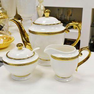 Conjunto Com 03 Peças Para Chá Em Porcelana Paddy - 55657