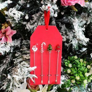 Conjunto Com 04 Garfinhos Para Petisco Natal - 57618