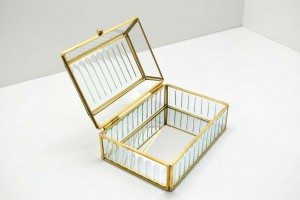 Conjunto de Caixas de Vidro e Metal - 58715