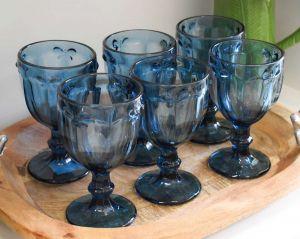 Conjunto De Taças Azul Libélula De Vidro - 58275