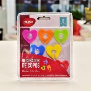 Decoradores De Copo Coloridos 8 Peças - 55575