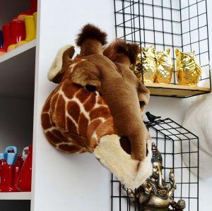 Enfeite Cabeça De Pelúcia Girafa Ruby Marrom - 57278
