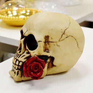 Enfeite De Caveira Com Rosa - 56906
