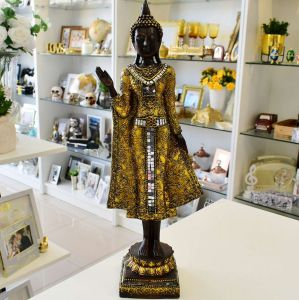 Enfeite De Resina Buddha Espelhado Com Dourado - 57111